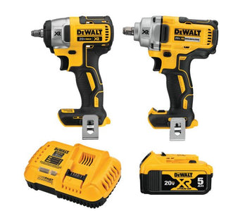 DeWalt DCK205P1 20-Volt MAX XR Lithium-Ion Cordless Automotive Combo Kit (2-Tool) with 1/2 in. Impact Wrench & 3/8 in. Impact Wrench