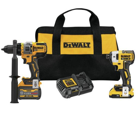DeWalt DCK2100D1T1 20-Volt MAX Lithium Ion Cordless Brushless Hammer Drill/Driver Combo Kit (2-Tool) with FLEXVOLT ADVANTAGE