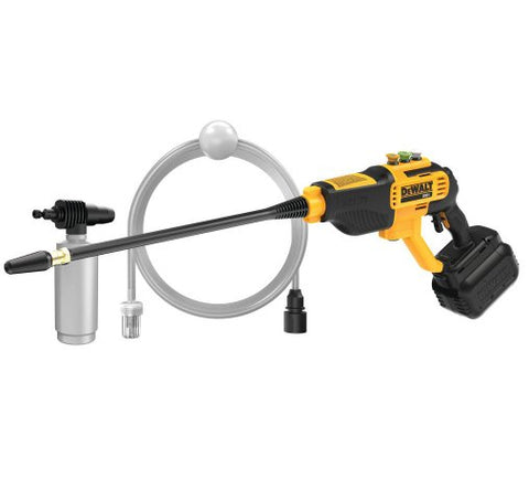 Image of DeWalt DCPW550P1 20-Volt MAX 550 PSI, 1.0 GPM Cold Water Cordless Electric Power Cleaner with 4 Nozzles, 5.0 Ah Battery and Charger