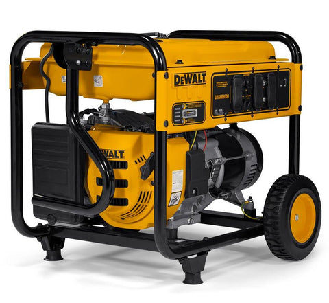 DeWalt PMC166500 DXGNR6500 6,500-Watt Gasoline Powered Manual Start Portable Generator with Idle Control, Covered Outlets and CO Protect