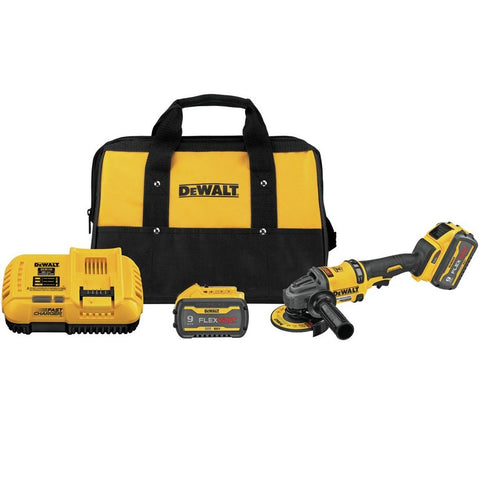 "DeWalt DCG418X2 FLEXVOLT® 60V MAX* BRUSHLESS 4 1/2"" - 6"" CORDLESS GRINDER WITH KICKBACK BRAKE KIT"