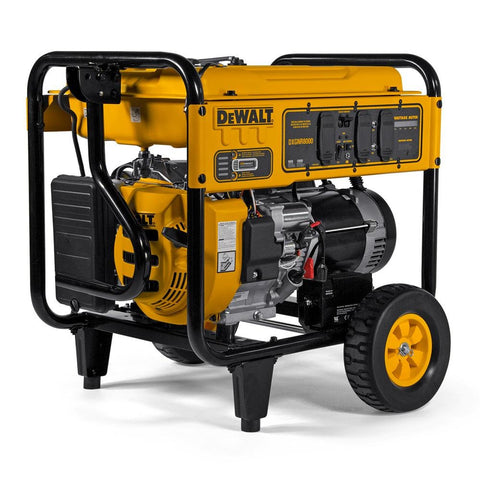 DEWALT PMC168000 DXGNR8000 8,000-Watt Gasoline Powered Electric Start Portable Generator with Idle Control, GFCI Outlets and CO Protect