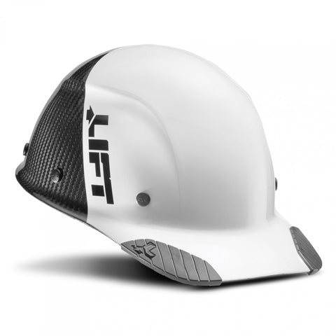 Image of LIFT Safety HDC50C-19WC DAX 50-50 Carbon Fiber Cap Style Hard Hat - Ratchet Suspension - White/Black