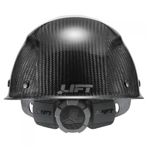 LIFT Safety HDC50C-19WC DAX 50-50 Carbon Fiber Cap Style Hard Hat - Ratchet Suspension - White/Black