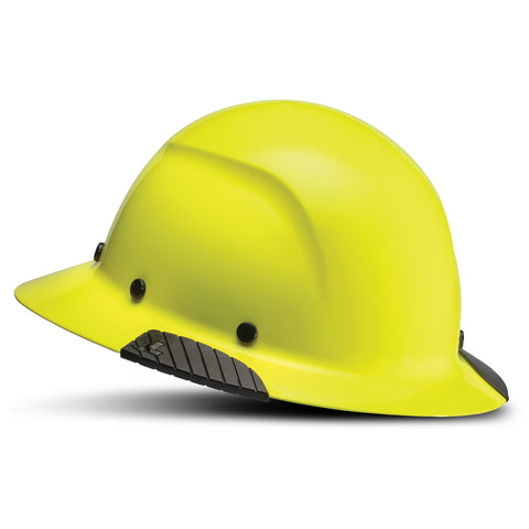 Image of LIFT Safety HDF-18HV DAX Full Brim Hard Hat - Ratchet Suspension - Hi-Viz Yellow/Lime