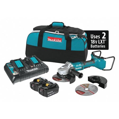 "Makita 18V X2 LXT (36V) BL 7"" Cut-Off/Angle Grinder Kit"