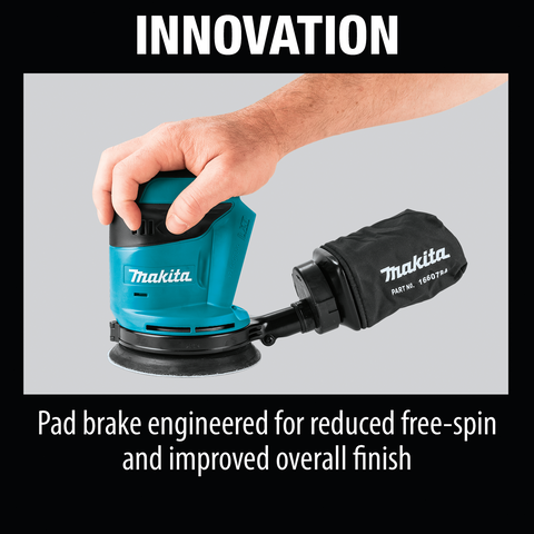 "Image of Makita XOB01Z 18V LXT® Lithium‑Ion Cordless 5"" Random Orbit Sander, Tool Only"