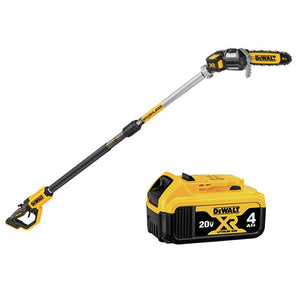 DEWALT DCPS620M1 8 in. 20-Volt MAX Cordless Pole Saw Includes 4.0ah Battery