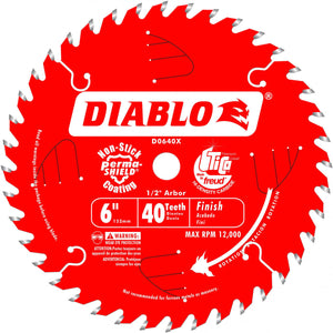 Diablo D0640X 6 In. X 40 Tooth Saw Boss Finish Blade