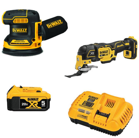 DeWalt DCK202P1 20-Volt MAX XR Lithium-Ion Cordless Woodworking Combo Kit (2-Tool) with Oscillating Tool & 5 in. Random Orbital Sander