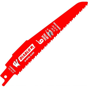 "Diablo DS0608BFD2 6"" Steel Demon Bi-Metal Recip Blade For Metal Demolition (1/8"" To 1/2"")"