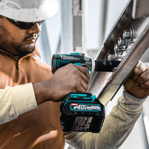 "Makita GWT04D 40V max XGT® Brushless Cordless 4‑Speed 1/2"" Sq. Drive Impact Wrench Kit w/ Friction Ring Anvil (2.5Ah)"