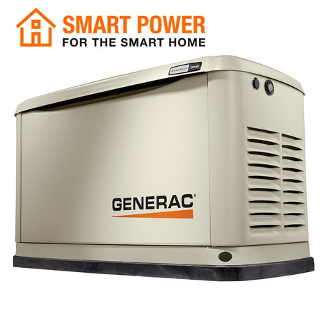 Generac 7077 Guardian 20000-Watt (LP)/17000-Watt (NG) Air-Cooled Standby Generator Aluminum Enclosure with Wi-Fi