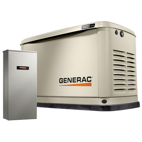 Generac 7175 Guardian 13,000-Watt Air-Cooled Standby Generator with Wi-Fi and 200-Amp Transfer Switch