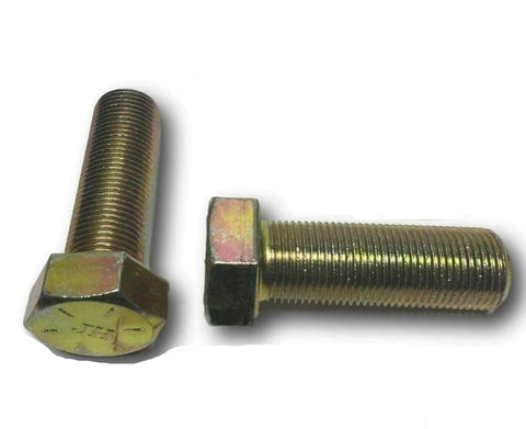 "Image of 1/2""-20 x 1 3/4"" (FT) Hex Bolt Yellow Zinc Plated Grade 8 Cap Screw Fine Thread"
