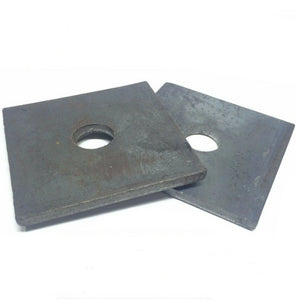 "(Qty 10) 3/4"" x 3"" x 1/4"" (approximately) Square Plate Washer Plain Finish"