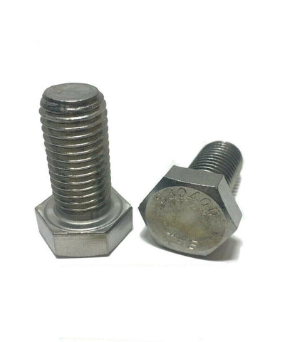 "3/8""-16 x 1"" StaInless Steel Hex Cap Screw / Tap Bolt 18-8 / 304"