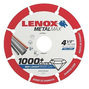 "Lenox Tools 1972921 METALMAX Diamond Edge Cut off Wheel, 4.5"" x 7/8"""