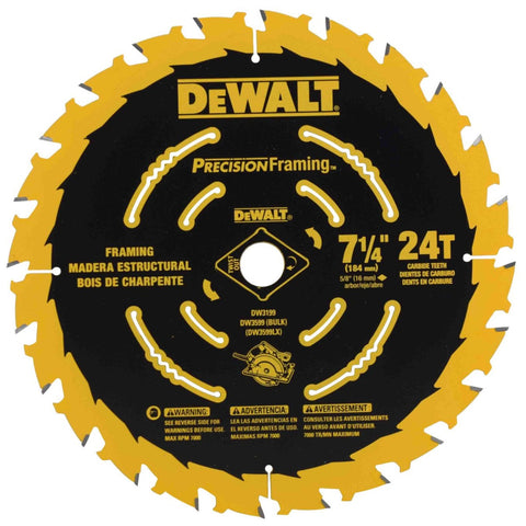 "DeWalt DW3599 7 1/4"" x 24t Ultra ThIn Saw Carbide Circular Saw Blade"