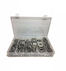 "275 Piece Extra Thick Heavy Duty Stainless Steel Flat Washer Assortment 1/4""-3/4"