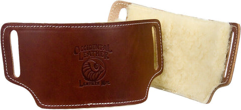 "Occidental Leather 5006 10"" x 6"" Sheepskin Lined Leather Pro Carpenters Hip Pads"