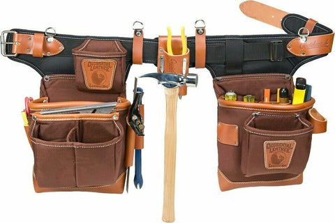 Occidental Leather 9855 Adjust-to-Fit FatLip Tool Belt Set - Cafe