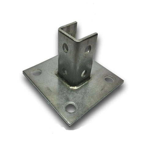 "(#4774S1) P2072ASQ SS StaInless Steel for 1-5/8"" UniStrut Post Base Square"