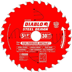 "Diablo D053830FMX 5-3/8"" x 30 Tooth Diablo Ferrous Cutting Saw Blade New"