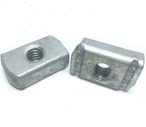 "3/8""-16 Hot Dipped Galvanized Strut Nuts w/O SprIng Unistrut Channel"