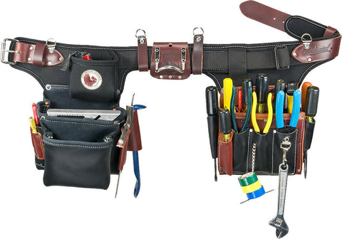 Occidental Leather 9596 Adjust-to-Fit Industrial Pro Electricians Tool Bag Set