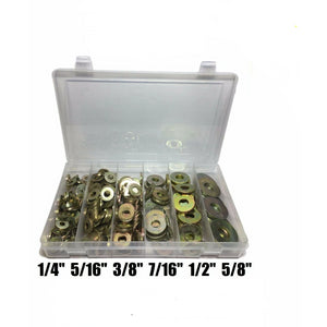 310 Piece Grade 8 USS Extra Thick Heavy Duty Flat Washer Assortment Kit 6 Sizes
