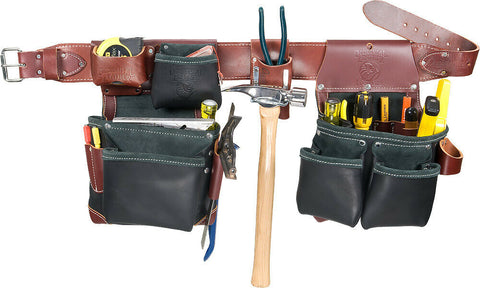 Occidental Leather B5625 Green Builder Black Framer Tool Belt Set