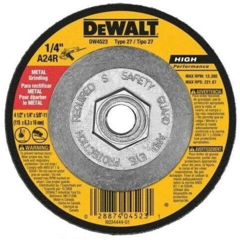 "DeWalt DW4523 4 1/2"" x 1/4"" x 5/8""-11 General Metal Grinding Wheel"