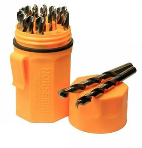 44190 Norseman / Viking 29 Piece Drill Bit Set Jobber Length Orange Ultradex USA