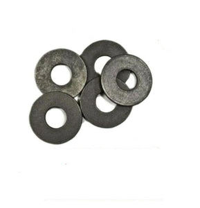 "(Qty 7,700) 1/4"" USS Flat Washers Plain / Black 50LBS (50#) 50 Pound Bulk Box"