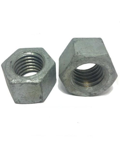 "3/8""-16 Low Carbon Grade 2 Finished Hex Nuts Hot Dipped Galvanized"