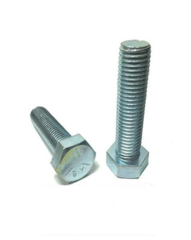 "5/16""-18 X 1 1/4"" Hex Tap Bolts Zinc Plated Grade 5 Cap Screw Full Thread"