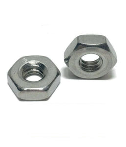 #4-40 StaInless Steel FInished Hex Nuts 304 / 18-8