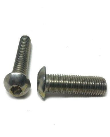 "(Qty 25) 1/4-20 x 1/2"" Button Head Socket Cap Screw Stainless Steel Screws UNC"