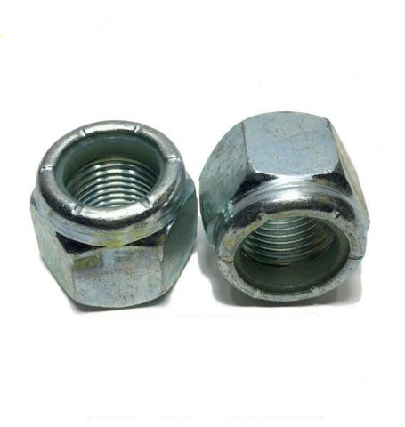 "1/2""-13 Nylon Insert Lock Nuts Nylock Zinc Plated"