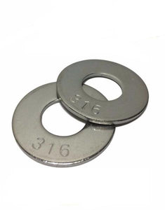 "(Qty 25) 3/4"" Grade 316 Stainless Steel Flat Washer GRADE 316"