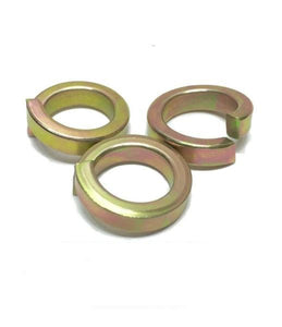 "1/2"" Hi-Collar Split Lock Washer Alloy Steel Yellow Zinc High Collar"