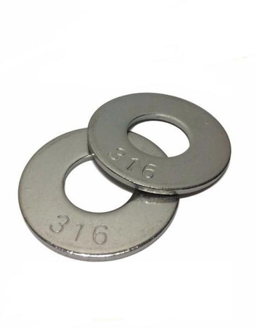 "3/8"" Grade 316 StaInless Steel Flat Washer Grade 316"