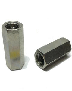 "1/2""-13 x 1 1/4"" Stainless Steel Threaded Rod Coupling Nuts"