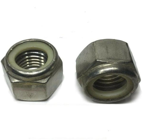 10-32 StaInless Steel Nylon Insert Lock Hex Nut UNF Nylock
