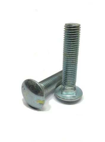 "1/2""-13 x 5"" Carriage Bolt Zinc Plated A307 Full Thread"