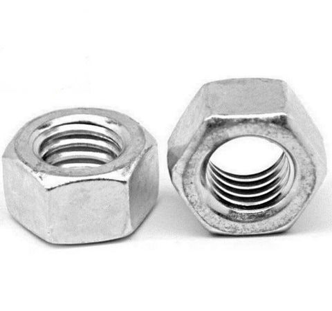 "3/8""-16 Low Carbon Grade 2 Finished Hex Nuts Zinc Plated"