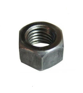 "(Qty 150) 1""-8 Plain Grade 2 Finished Hex Nuts Unplated Plain / Black Bulk Box"