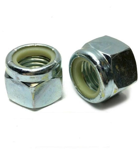 "1/4""-20 Nylon Insert Lock Nuts Nylock Zinc Plated"