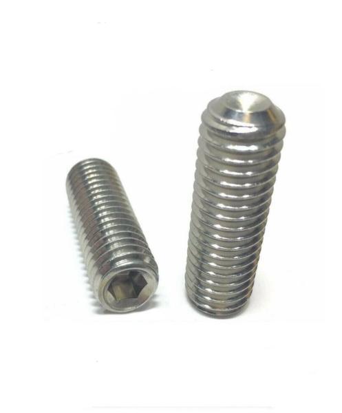 "(Qty 100) #10-32 x 1"" Stainless Steel Socket Set Screw Cup Point Fine Thread"